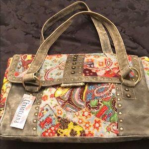 Christiana Beaded & Leather Bag - Never Used